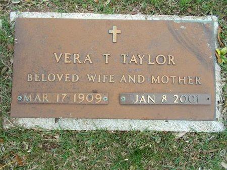 TAYLOR, VERA T - Caddo County, Louisiana | VERA T TAYLOR - Louisiana Gravestone Photos