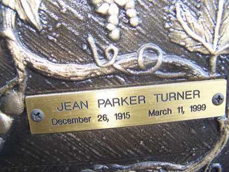 PARKER TURNER, JEAN - Caddo County, Louisiana | JEAN PARKER TURNER - Louisiana Gravestone Photos