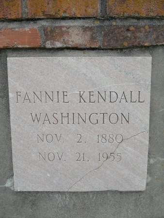WASHINGTON, FANNIE (CLOSE UP) - Caddo County, Louisiana | FANNIE (CLOSE UP) WASHINGTON - Louisiana Gravestone Photos