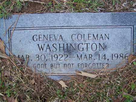 WASHINGTON, GENEVA - Caddo County, Louisiana | GENEVA WASHINGTON - Louisiana Gravestone Photos