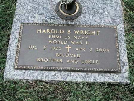 WRIGHT, HAROLD B (VETERAN WWII) - Caddo County, Louisiana | HAROLD B (VETERAN WWII) WRIGHT - Louisiana Gravestone Photos