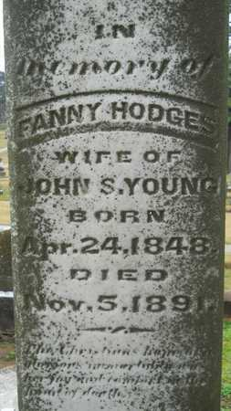 YOUNG, FANNY (CLOSE UP) - Caddo County, Louisiana | FANNY (CLOSE UP) YOUNG - Louisiana Gravestone Photos