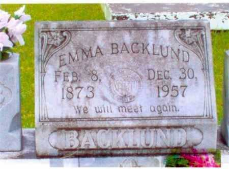 BACKLUND, EMMA JOHANNA - Calcasieu County, Louisiana | EMMA JOHANNA BACKLUND - Louisiana Gravestone Photos