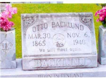 BACKLUND, OTTO MICKELSSON - Calcasieu County, Louisiana | OTTO MICKELSSON BACKLUND - Louisiana Gravestone Photos