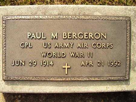 BERGERON, PAUL MCGUFFEY (VETERAN WWII) - Calcasieu County, Louisiana   PAUL MCGUFFEY (VETERAN WWII) BERGERON - Louisiana Gravestone Photos
