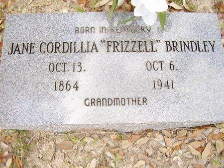 FRIZZELL BRINDLEY, JANE CORDILLIA - Calcasieu County, Louisiana | JANE CORDILLIA FRIZZELL BRINDLEY - Louisiana Gravestone Photos