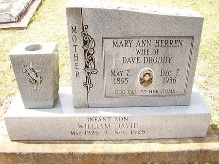 DRODDY, MARY ANN - Calcasieu County, Louisiana | MARY ANN DRODDY - Louisiana Gravestone Photos