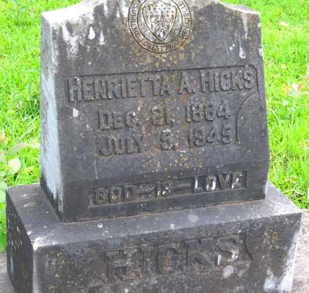 HICKS, HENRIETTA A (CLOSEUP) - Calcasieu County, Louisiana | HENRIETTA A (CLOSEUP) HICKS - Louisiana Gravestone Photos