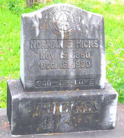 HICKS, NORMAN F (CLOSEUP) - Calcasieu County, Louisiana   NORMAN F (CLOSEUP) HICKS - Louisiana Gravestone Photos