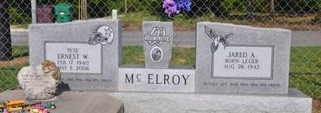 "MCELROY, ERNEST W ""PETE"" - Calcasieu County, Louisiana | ERNEST W ""PETE"" MCELROY - Louisiana Gravestone Photos"