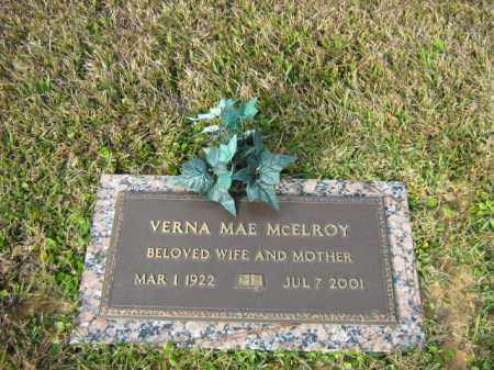 MCELROY, VERNA MAE - Calcasieu County, Louisiana | VERNA MAE MCELROY - Louisiana Gravestone Photos