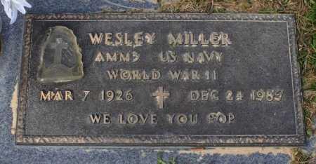 MILLER  , WESLEY (VETERAN WWII) - Calcasieu County, Louisiana | WESLEY (VETERAN WWII) MILLER   - Louisiana Gravestone Photos