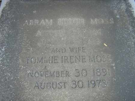 MOSS, TOMMIE IRENE - Calcasieu County, Louisiana | TOMMIE IRENE MOSS - Louisiana Gravestone Photos