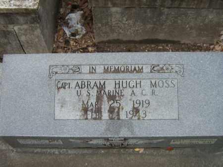 MOSS, CAPT. ABRAM HUGH - Calcasieu County, Louisiana | CAPT. ABRAM HUGH MOSS - Louisiana Gravestone Photos