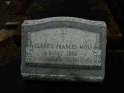 MOSS, CLARICE FRANCES - Calcasieu County, Louisiana | CLARICE FRANCES MOSS - Louisiana Gravestone Photos