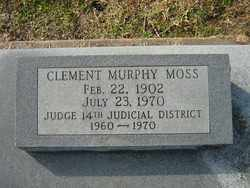 MOSS, CLEMENT MURPHY - Calcasieu County, Louisiana | CLEMENT MURPHY MOSS - Louisiana Gravestone Photos