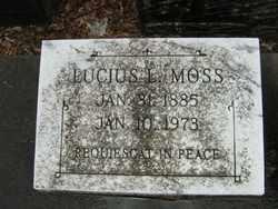 MOSS, LUCIUS L - Calcasieu County, Louisiana   LUCIUS L MOSS - Louisiana Gravestone Photos