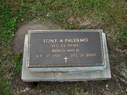 PALERMO, TONY A  (VETERAN WWII) - Calcasieu County, Louisiana   TONY A  (VETERAN WWII) PALERMO - Louisiana Gravestone Photos