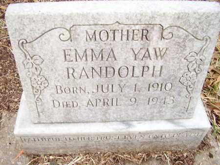YAW RANDOLPH, EMMA - Calcasieu County, Louisiana | EMMA YAW RANDOLPH - Louisiana Gravestone Photos