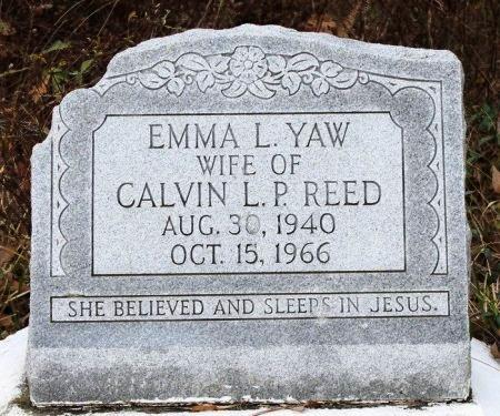 YAW REED, EMMA L - Calcasieu County, Louisiana | EMMA L YAW REED - Louisiana Gravestone Photos