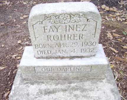 ROHRER, FAY INEZ - Calcasieu County, Louisiana | FAY INEZ ROHRER - Louisiana Gravestone Photos