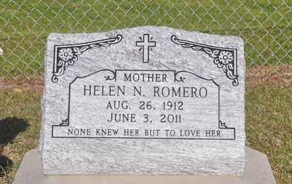 ROMERO, HELEN N - Calcasieu County, Louisiana | HELEN N ROMERO - Louisiana Gravestone Photos
