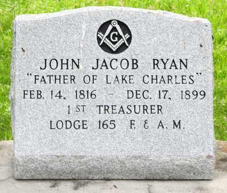 RYAN, JOHN JACOB (CLOSEUP) - Calcasieu County, Louisiana   JOHN JACOB (CLOSEUP) RYAN - Louisiana Gravestone Photos