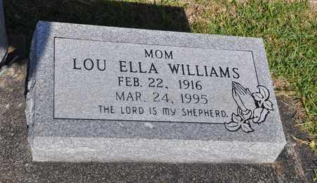 WILLIAMS, LOU ELLA - Calcasieu County, Louisiana | LOU ELLA WILLIAMS - Louisiana Gravestone Photos