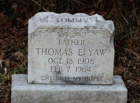 """YAW, THOMAS E  """"TOMMY"""" - Calcasieu County, Louisiana   THOMAS E  """"TOMMY"""" YAW - Louisiana Gravestone Photos"""