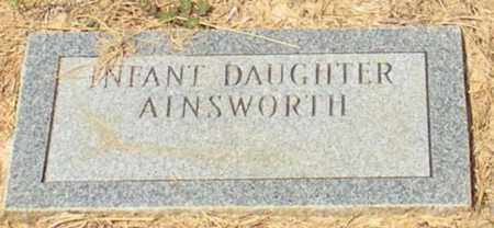 AINSWORTH, INFANT DAUGHTER - Caldwell County, Louisiana | INFANT DAUGHTER AINSWORTH - Louisiana Gravestone Photos