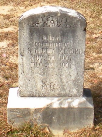 ALFORD, INFANT DAUGHTER - Caldwell County, Louisiana | INFANT DAUGHTER ALFORD - Louisiana Gravestone Photos