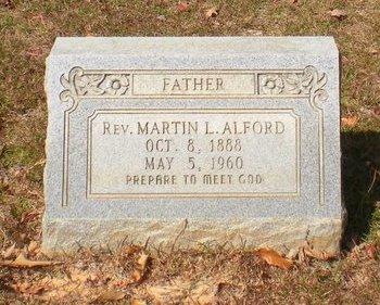 ALFORD, MARTIN L, REV - Caldwell County, Louisiana | MARTIN L, REV ALFORD - Louisiana Gravestone Photos