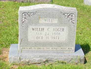 ALGER, WILLIE C - Caldwell County, Louisiana | WILLIE C ALGER - Louisiana Gravestone Photos