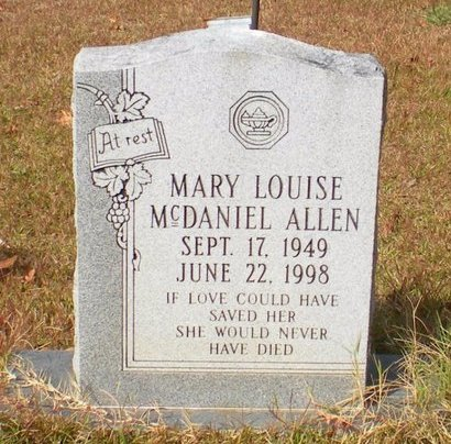 ALLEN, MARY LOUISE - Caldwell County, Louisiana | MARY LOUISE ALLEN - Louisiana Gravestone Photos