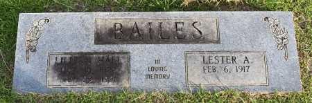 HALL BAILES, LILLIAN - Caldwell County, Louisiana | LILLIAN HALL BAILES - Louisiana Gravestone Photos