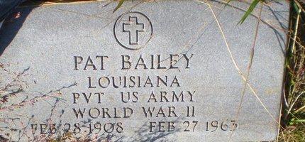 BAILEY, PAT  (VETERAN WWII) - Caldwell County, Louisiana | PAT  (VETERAN WWII) BAILEY - Louisiana Gravestone Photos