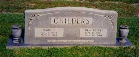 CHILDERS, LEWIS EDWARD - Caldwell County, Louisiana | LEWIS EDWARD CHILDERS - Louisiana Gravestone Photos