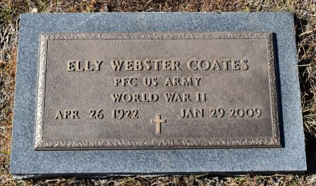 COATES, ELLY WEBSTER (VETERAN WWII) - Caldwell County, Louisiana | ELLY WEBSTER (VETERAN WWII) COATES - Louisiana Gravestone Photos