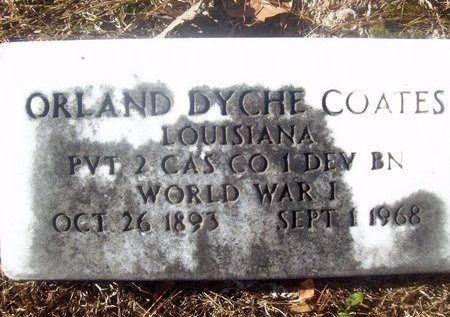 COATES, ORLAND DYCHE (VETERAN WWI) - Caldwell County, Louisiana | ORLAND DYCHE (VETERAN WWI) COATES - Louisiana Gravestone Photos