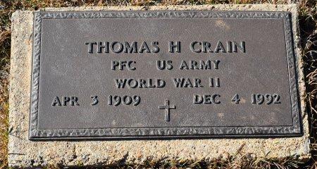CRAIN, THOMAS H (VETERAN WWII) - Caldwell County, Louisiana   THOMAS H (VETERAN WWII) CRAIN - Louisiana Gravestone Photos