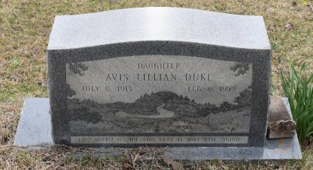 DUKE, AVIS LILLIAN - Caldwell County, Louisiana   AVIS LILLIAN DUKE - Louisiana Gravestone Photos