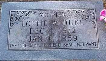 WILSON DUKE, LOTTIE JANE - Caldwell County, Louisiana | LOTTIE JANE WILSON DUKE - Louisiana Gravestone Photos