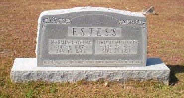 HUNDLEY ESTES, MARSHALL O'LENA - Caldwell County, Louisiana | MARSHALL O'LENA HUNDLEY ESTES - Louisiana Gravestone Photos