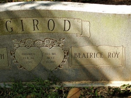 ROY GIROD, BEATRICE - Caldwell County, Louisiana | BEATRICE ROY GIROD - Louisiana Gravestone Photos