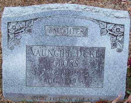 DUKE GLOSS, VAUNCIEL - Caldwell County, Louisiana | VAUNCIEL DUKE GLOSS - Louisiana Gravestone Photos
