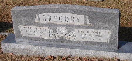 WALKER GREGORY, MYRTIE - Caldwell County, Louisiana | MYRTIE WALKER GREGORY - Louisiana Gravestone Photos