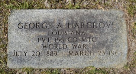 HARGROVE, GEORGE A (VETERAN WWI) - Caldwell County, Louisiana | GEORGE A (VETERAN WWI) HARGROVE - Louisiana Gravestone Photos
