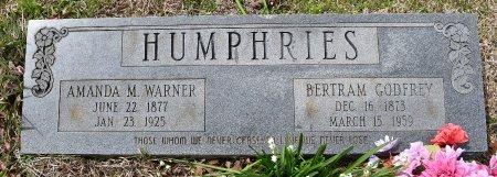 HUMPHRIES, BERTRAM GODFREY - Caldwell County, Louisiana | BERTRAM GODFREY HUMPHRIES - Louisiana Gravestone Photos