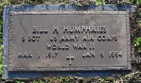 HUMPHRIES, BILL H (VETERAN WWII) - Caldwell County, Louisiana | BILL H (VETERAN WWII) HUMPHRIES - Louisiana Gravestone Photos