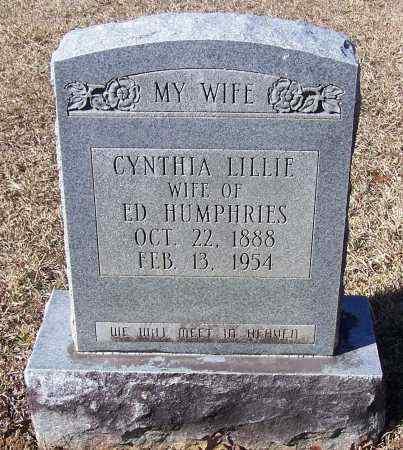 LILLIE HUMPHRIES, CYNTHIA - Caldwell County, Louisiana | CYNTHIA LILLIE HUMPHRIES - Louisiana Gravestone Photos